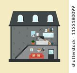 infographic layout interior... | Shutterstock .eps vector #1133180099