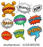 comic speech bubbles. sound... | Shutterstock . vector #1133185250