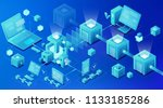 blockchain technology... | Shutterstock . vector #1133185286