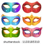 face masks collection for... | Shutterstock . vector #1133185310