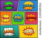 comic speech bubbles background ... | Shutterstock . vector #1133185316