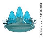mountains landscape design | Shutterstock .eps vector #1133185343