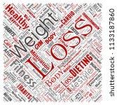 vector conceptual weight loss... | Shutterstock .eps vector #1133187860