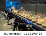 japan restaurant sushi conveyor ... | Shutterstock . vector #1133190416