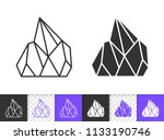quartz crystal black linear and ... | Shutterstock .eps vector #1133190746