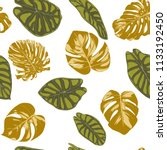 seamless hand drawn botanical... | Shutterstock .eps vector #1133192450