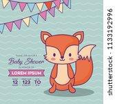 baby shower design | Shutterstock .eps vector #1133192996