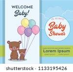 baby shower design | Shutterstock .eps vector #1133195426