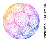 soccer ball colorful wireframe...   Shutterstock .eps vector #1133195786