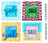 vector summer sale banners... | Shutterstock .eps vector #1133199599