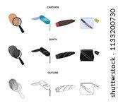 a fingerprint study  a folding... | Shutterstock .eps vector #1133200730