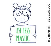 use less plastic concept.... | Shutterstock .eps vector #1133201030