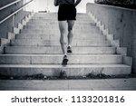 black and white man runner...   Shutterstock . vector #1133201816