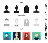 curly haired boy  blond  red...   Shutterstock .eps vector #1133210606
