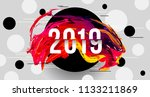 2019 glitched background design ... | Shutterstock .eps vector #1133211869