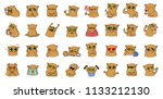 sticker for messenger with... | Shutterstock .eps vector #1133212130