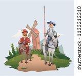 don quixote and sancho panza... | Shutterstock .eps vector #1133212310