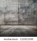 Grungy Concrete Wall And Floor.