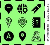 simple 9 icon set of map... | Shutterstock .eps vector #1133216153