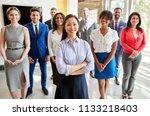 asian businesswoman and her... | Shutterstock . vector #1133218403