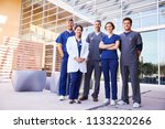 healthcare colleagues standing... | Shutterstock . vector #1133220266