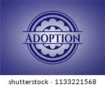 adoption emblem with denim high ... | Shutterstock .eps vector #1133221568