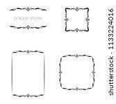 vintage floral frames borders... | Shutterstock .eps vector #1133224016