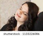 femme fatale plus size model | Shutterstock . vector #1133226086