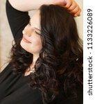 femme fatale plus size model | Shutterstock . vector #1133226089