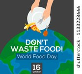 world food day. poster design.... | Shutterstock .eps vector #1133228666