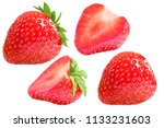 strawberry group set. isolated... | Shutterstock . vector #1133231603