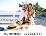 lifestyle summer portrait of... | Shutterstock . vector #1133237984