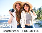 summer lifestyle portrait of... | Shutterstock . vector #1133239118