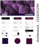 dark purple vector design ui...