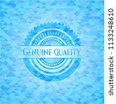 genuine quality sky blue emblem ... | Shutterstock .eps vector #1133248610