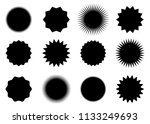 abstract sunburst vector badges ...   Shutterstock .eps vector #1133249693
