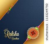 raksha bandhan greeting card... | Shutterstock .eps vector #1133249750