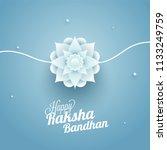 paper cut style floral rakhi... | Shutterstock .eps vector #1133249759