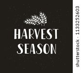 harvest season   hand drawn... | Shutterstock .eps vector #1133252603