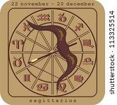 sagittarius european zodiac | Shutterstock .eps vector #113325514