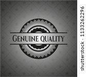genuine quality dark emblem | Shutterstock .eps vector #1133262296