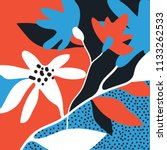 print for silk scarf with... | Shutterstock .eps vector #1133262533