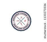 barber shop logo vector | Shutterstock .eps vector #1133273336