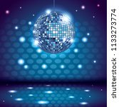 80s disco interior scenery | Shutterstock .eps vector #1133273774