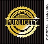publicity gold shiny badge | Shutterstock .eps vector #1133274803