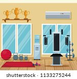 gym interior equipment | Shutterstock .eps vector #1133275244