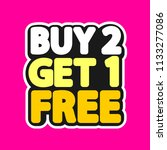 buy 2 get 1 free  sale tag ... | Shutterstock .eps vector #1133277086