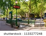 entrance to paris metro subway... | Shutterstock . vector #1133277248