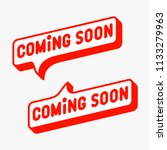 coming soon label  sign  icon....   Shutterstock .eps vector #1133279963
