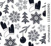 vector seamless christmas  new... | Shutterstock .eps vector #1133285090